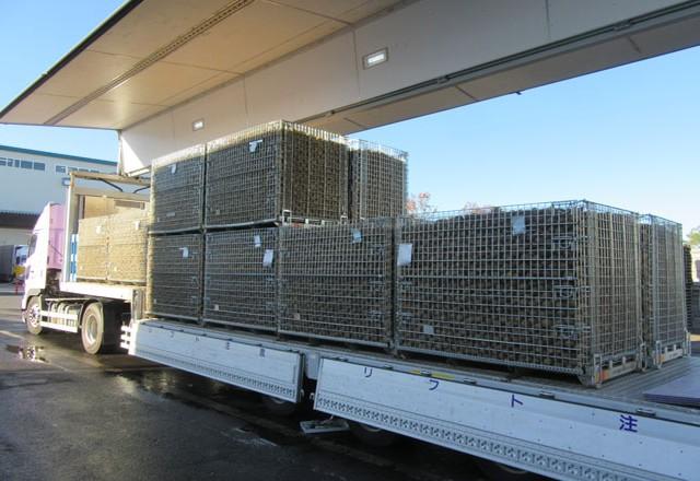 メッシュコンテナボックスで馬鈴薯の出荷